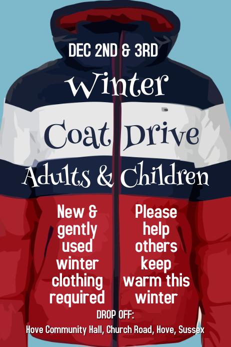 Winter Coat Drive Poster Template