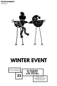 Winter coat Flyer Template