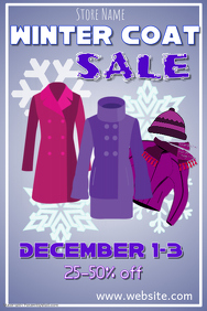 Winter Coat Sale Poster Template