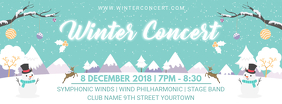 Winter Concert Facebook Banner Design