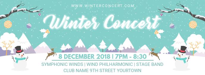 Winter Concert Facebook Banner Design