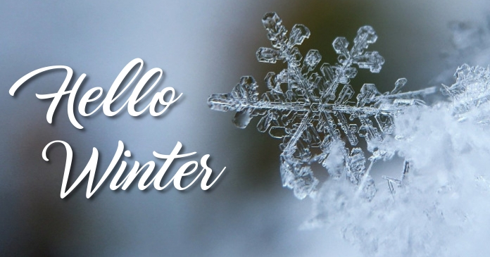 Winter Facebook Shared Image template