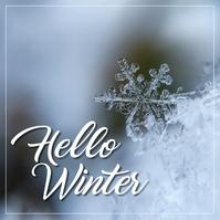 Winter Instagram-Beitrag template
