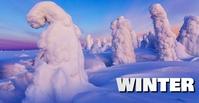 winter Couverture d'événement Facebook template