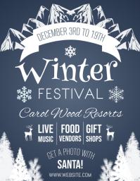 Winter Flyer (US Letter) template