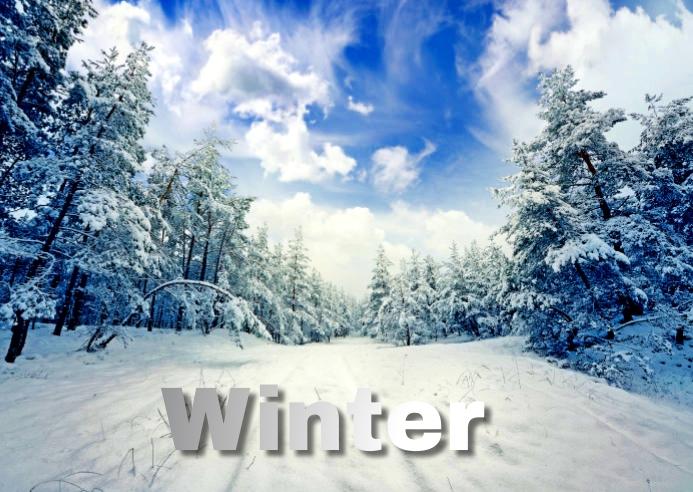 winter Postcard template