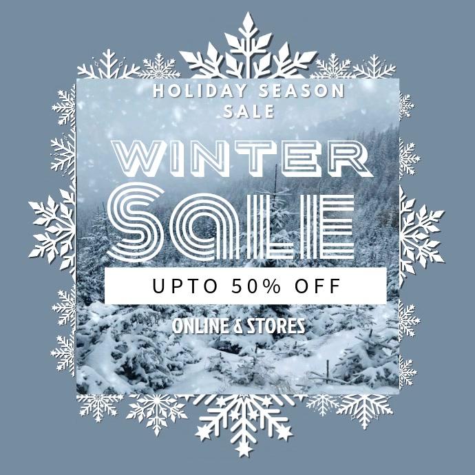 Winter Discount Instagram Video Template