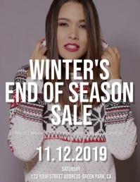 Winter End of Season Sale Flyer Template