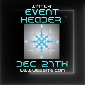winter event ad digital video Logo template