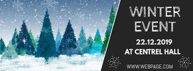 Winter event facebook cover template