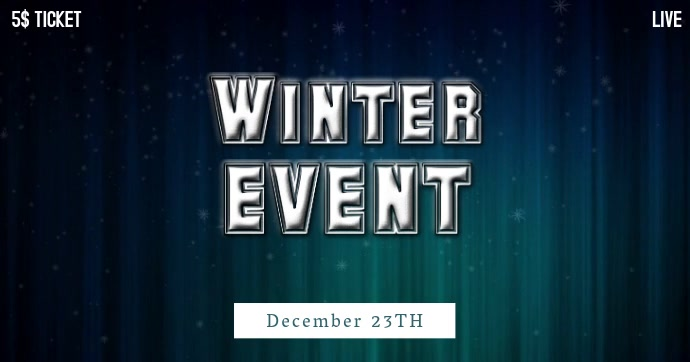 Winter Event Facebook Post Video Template