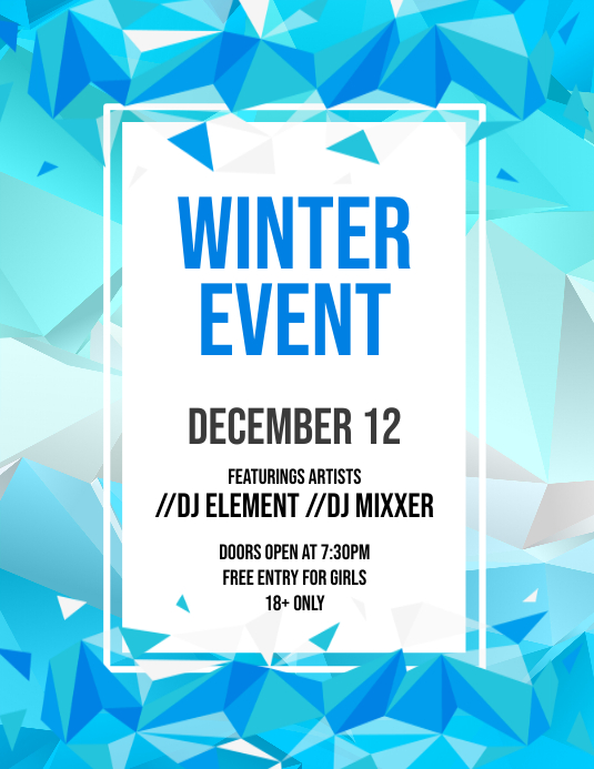 Winter Event Flyer ใบปลิว (US Letter) template