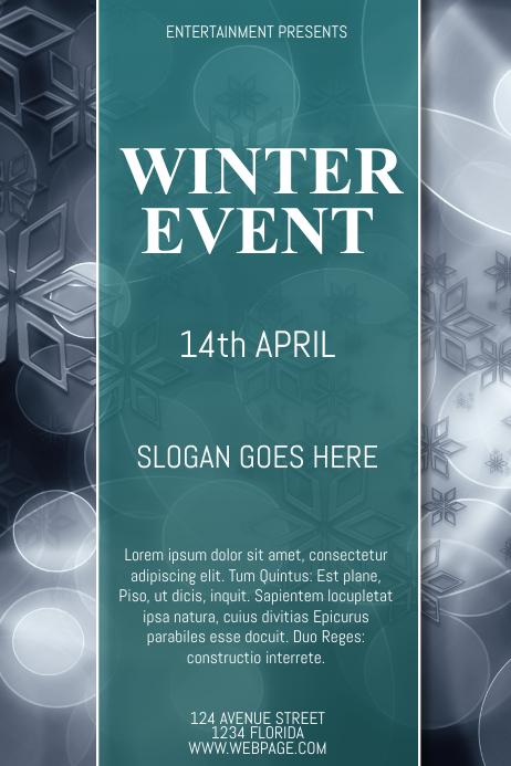 Winter Event Flyer Template