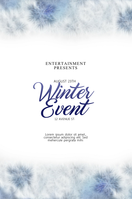 Winter Event Flyer Template Плакат
