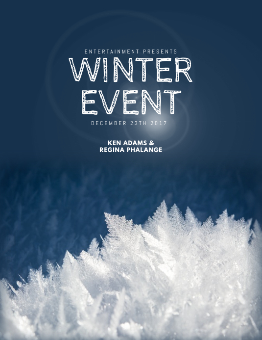 Customizable Design Templates For Winter Flyer  Postermywall