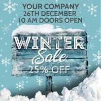 Winter Event Instagram Post template