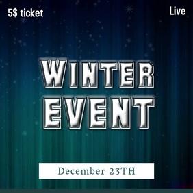 Winter Event Instagram Post Video Template