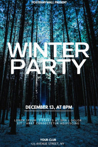 Winter event party flyer template