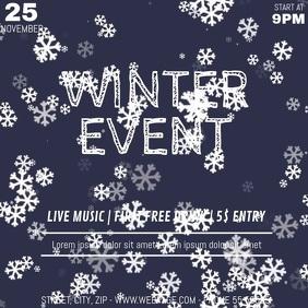 Winter event video flyer template