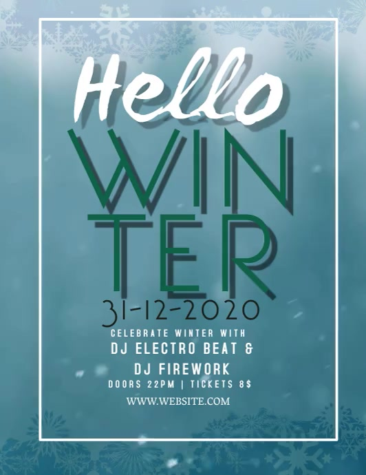 Winter EVENT VIDEO FLYER TEMPLATE
