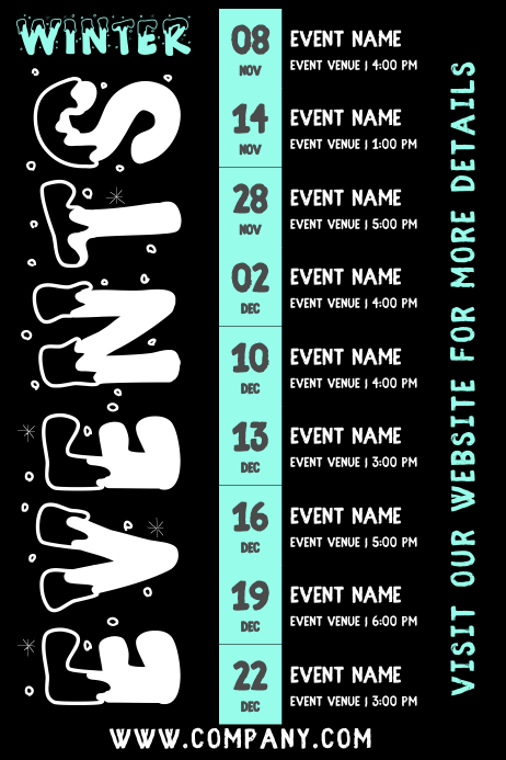 Winter Events Schedule Template