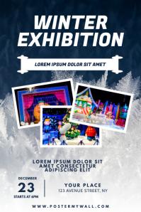 Winter Exhibition Flyer Design Template Poster