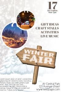 Winter Fair Christmas Fair Flyer Template