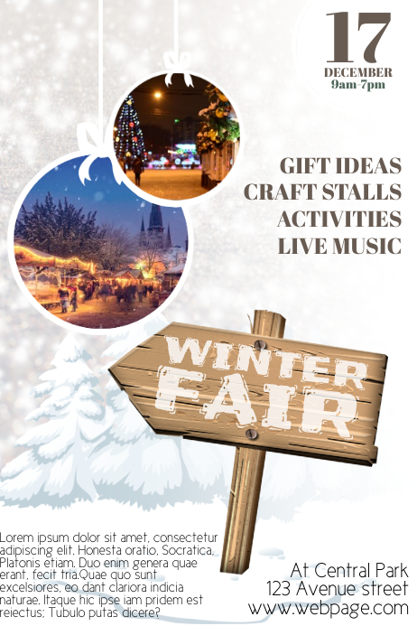 Winter Fair Christmas Fair Flyer Template Postermywall