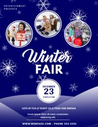 Winter Fair Event Flyer Design Template