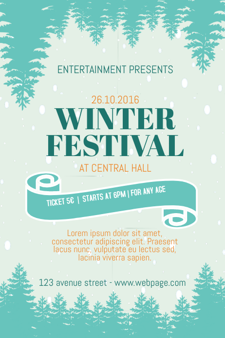 Winter Fair Festival Flyer Template