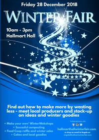Winter Fair Poster A4 template