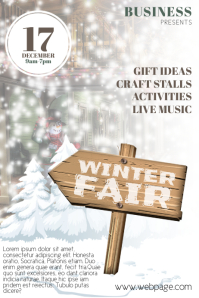 Winter Fair Flyer template