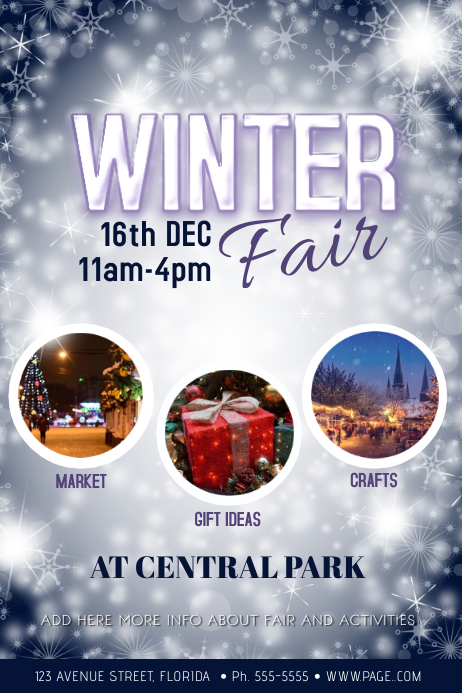 Winter Fair Flyer Template with photos