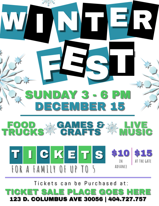 Winter Family Fun Day Fest Template