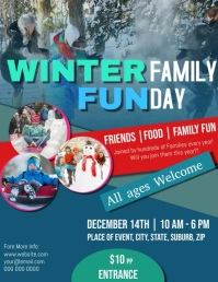 Winter Family Fun Day Video Flyer Template