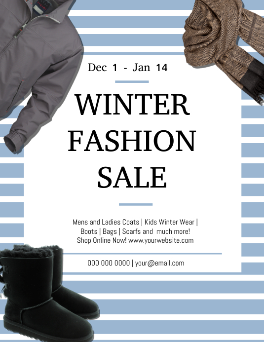Winter Fashion Clearance Sale Template