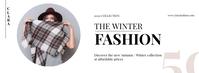 Winter Fashion Poster Foto Sampul Facebook template