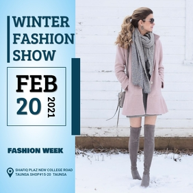 Winter Fashion Show Instagram Post template