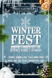 Winter Fest Christmas Hanukkah X-Mas Ice Snow Pine Tree