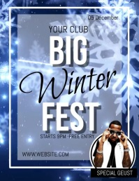 WINTER FEST FESTIVAL DAY EVENT FLYER