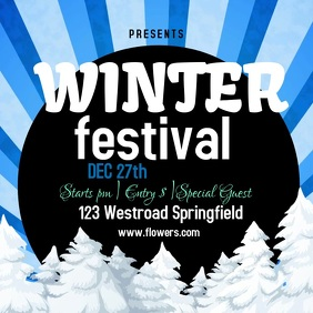 WINTER fest festival template