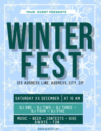 Winter Festival ad Flyer Template