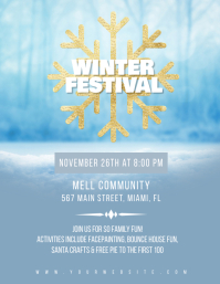 Winter Festival Community Event Flyer Pamflet (VSA Brief) template