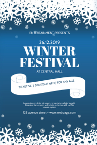 Winter Festival Event Flyer Design