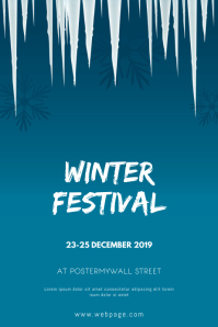Winter Festival event Flyer Design Template