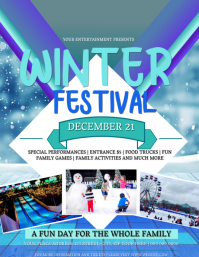 Winter Festival Event Flyer Template