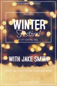 Winter festival flyer template Poster