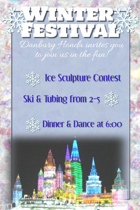 Winter Festival Snow Ski Dinner Dance Gala Ball Template