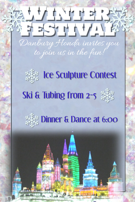 Winter Festival Snow Ski Dinner Dance Gala Ball Template