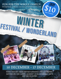 Winter Festival Wonderland Flyer Template